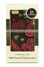 iCOUTURE Hardshell Case BLACK+MULTI HEARTS For iPOD Touch 5th Gen ULTRA SLIM FIT