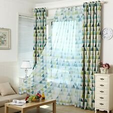 Blackout Curtains Long Shading Curtain Triangle Printing Child Bedroom Drape 1PC