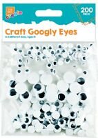 Googly Eyes,Craft Goggle Goggly Wobbly Eye Stick Glue On,Kid Card Art 7 10 15 mm