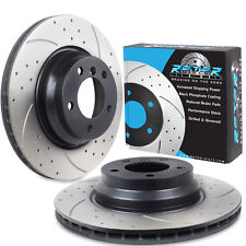 ROTORDISCS FRONT DRILLED GROOVED 330mm BRAKE DISCS BMW E82 E90 123d 330 325 X1
