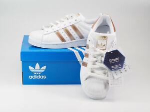 adidas SUPERSTAR W Damen/Mädchen Sneakers weiß-gold Gr. 36 ungetragen CG5463