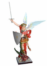 Saint Michael fiberglass statue cm. 160 with sword - glass eyes