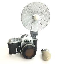Time Slip Glico Miniature Figure Camera Nikon F Silver Kaiyodo Japan
