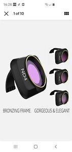 4x Drone Camera Lens Filter Kit ND4/8/16/32 ND-PL Set for DJI Mavic Mini/Mini 2