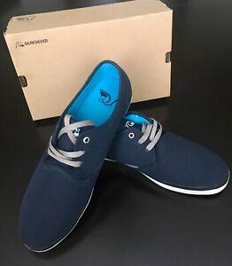 NIB Quiksilver Men's Shorebreak Sneaker Shoes SIZE 14 Navy Blue Quicksilver New