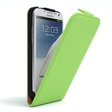 Tasche für Samsung Galaxy Note 2 Flip Case Schutz Hülle Cover Grün