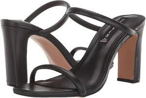 Steven by Steve Madden Womens Black Jersey Naked Heeled Sandals Size 10 M