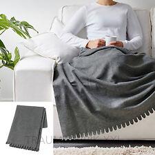 IKEA PLAID COUVRE-LIT Tapis Polaire Couverture Jeté gris 130X170CM NEUF