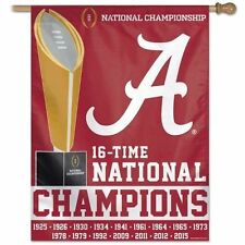 University of Alabama 2015 National Champions Crimson Vertical House Flag