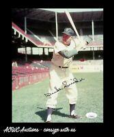 Autographed 8x10 Photo - Duke Snider - Brooklyn Dodgers 1980 HOF - JSA Certified