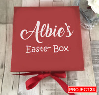 PERSONALISED EASTER TREAT GIFT BOX NAME Present Custom Celebration Sticker Decal