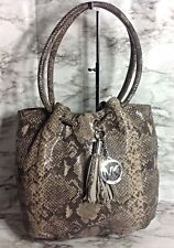 Michael Kors Phyton Snake Skin Leather Satchel Hobo Bag