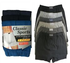 Pack Of 6x 12x Mens Boxer Shorts Cotton Rich Extra Soft Button Fly Underwear