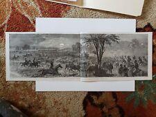 Harrison's Landing Great Cattle Raid 1864 Civil War Sketch Print