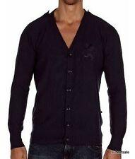 Maglia Cardigan Zu+Elements Uomo Long Sleeves Blu Tg L