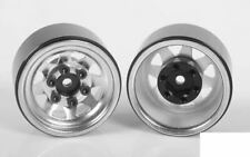 """Stamped Steel 1.0"""" Stock Beadlock Wheels CHROME Z-W0263 RC4WD 18th scale micro"""