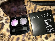 Avon MEGA IMPACT Eyeshadow Duo NIB U702 Violet Voltage