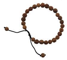 Bracelet mala rosaire graines de Rudraksha-Bouddhiste Hindu Ø 7mm - 2873 - S4