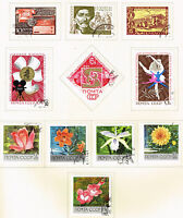 Russia Soviet stamps set Flora Cinema 1969