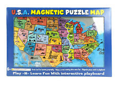 America Magnetic Puzzle USA Map Play-N-Learn Geography Playboard
