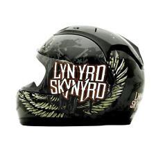 Rockhard Lynyrd Skynyrd Full Face Motorcycle Helmet Black White Medium MD