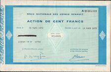 1 action: Régie Nationale des Usines RENAULT (R)