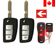 2x New Replacement Keyless Flip Remote Key Fob For Nissan & Infiniti KBRASTU15