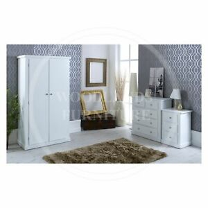 HANDMADE DEWSBURY LADIES 3 PIECE BEDROOM SET IN WHITE, MANY COLOURS (ASSEMBLED