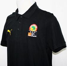 SOUTH AFRICA 2013 CAF Africa Cup of Nations Polo Shirt Black XL Puma Brand NWOT