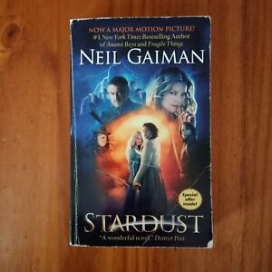 Stardust by Neil Gaiman  Movie Tie In  Small Paperback 2007 Color Movie Stills