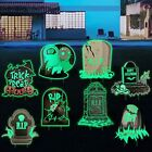 8 Pcs Halloween Tombstone Yard Signs with Stakes Decorations, Outdoor Large