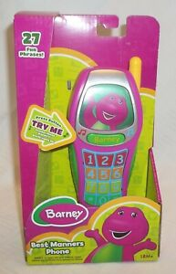 Fisher Price Barney Best Manners Phone Electronic Toy 27 phrases