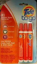 Tide To Go ~ Stain Remover Stick ~ 3 Pack of Stain Removing Pens ~ FREE SHIPPING