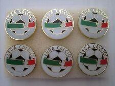 lotto 6 pins lot LEGA CALCIO SERIE A ITALIA spilla football calcio pins spille