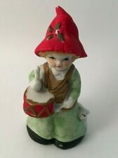 """Vintage 1980 Mwc Ceramic Drummer Boy w/Lamb By His Side 4 1/2"""" Tall"""