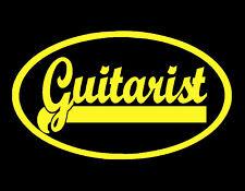 Guitarist Vinyl Decal Yellow 4X8 Guitar Player Bass