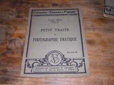 1925.traité photographie pratique / Véron.bon ex