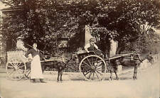 More details for wembley. e. nash. two horse & cart delivery carts.