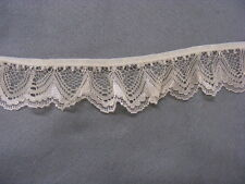 Gathered Lace Fawn 10 metres  (251/1)