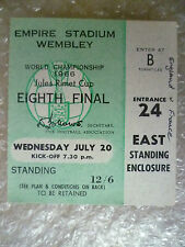 English Football World Cup Fixture Tickets & Stubs
