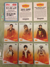 Star Wars -  Dennys Solo cards - Complete 12-card Set + coupon cards