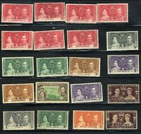 1937 British 12th May Coronation King George VI ♔ 20-Stamp Set MNH OG Set 2