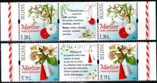 MOLDOVA 2016-03 Martisor, Holiday of Spring. Flowers. LABELED Strips, MNH