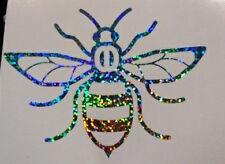Manchester Bee car van window sticker decal vinyl  glitter silver