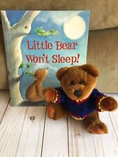 Toy + Story Teddy Bear With Sweater + New Book Little Bear Won't Sleep Kids Gift