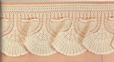 Pineapple valance;  vintage  crochet  pattern (#P106)