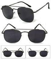 Mens Large Metal Frame Full Lens Magnified Tinted Sun Reader Reading Sunglasses