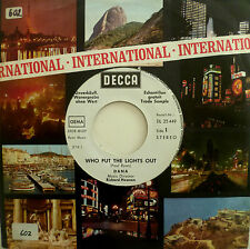 """7"""" 1971 GERMAN PROMO VG++ ! DANA Who Put The Lights Out"""