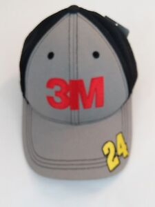 Jeff Gordon #24 Hendrick Motorsports NASCAR 3M Black Mesh Baseball Hat Cap NEW