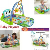 4 in 1 Fitness Music Play Piano Gym New-Born Baby Play Mat Music Sound Green Fun